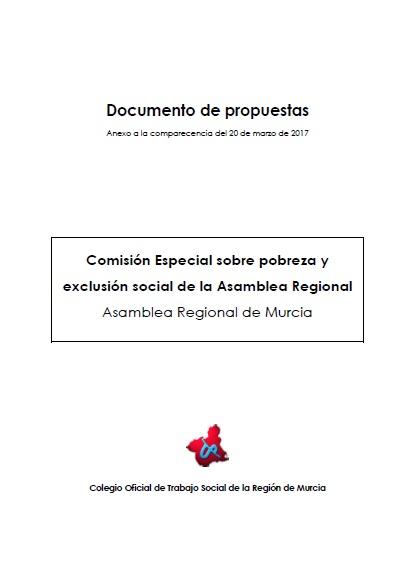 Portada del documento de propuestas a la Asamblea Regional