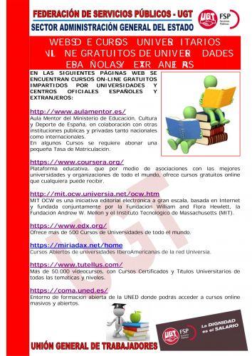 Portal Del Colegio Profesional De Trabajo Social De Cadiz Cursos Online Gratuitos Impartidos Por Universidades Y Centros Oficiales Espanoles Y Extranjeros